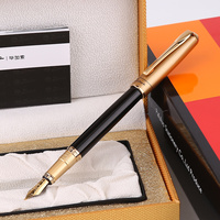 Free Engraving Pimio Smooth Black and Silver 1.0MM Curved Nib Calligraphy Pen for Painting with Original Gift Box 0.5mm Ink pens