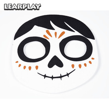 CoCo Migul Cosplay Masker Dag av det döda ansiktet Mask för Halloween Carnival Party for Kids Adult Props Kostym Tillbehör