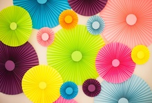 Laeacco Colorful Paper Flower Wall Wedding Birthday Party Decor Kid Portrait Photographic Background Photo Backdrop Photo Studio