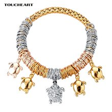 Toucheart роскошный серебряный цвет черепаха очаровательные
