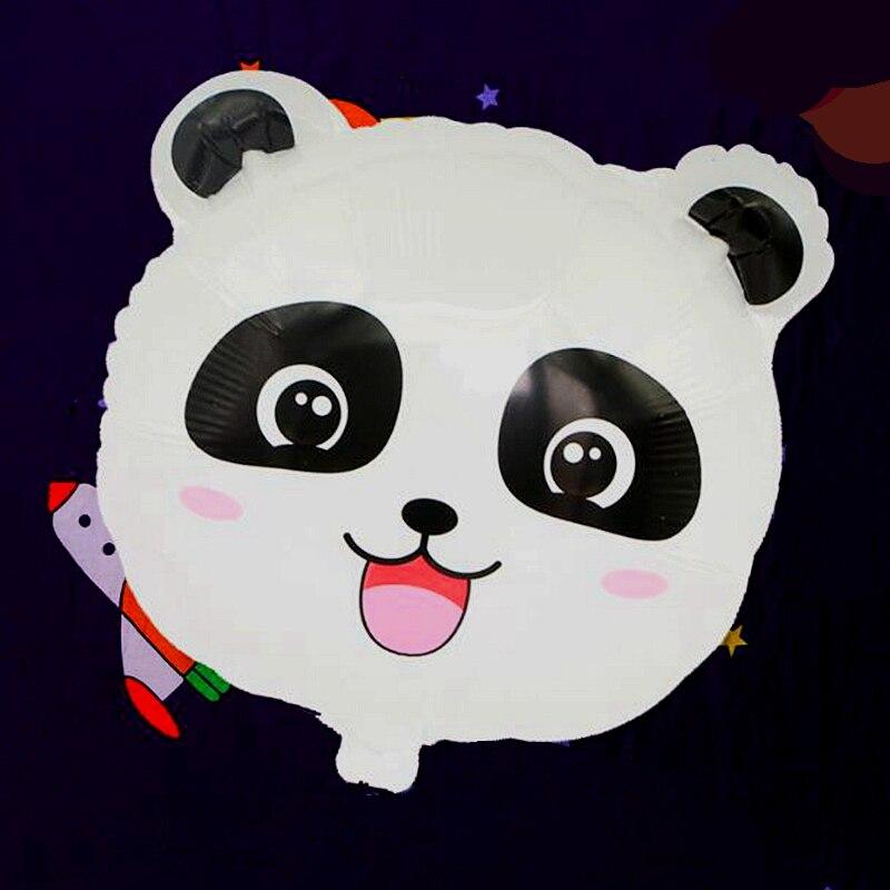 2pcs/lot Panda Big Eyes Cartoon Balloon Foil Inflatable Balloons Kids Birthday Party Wedding Decorations Supplies Lovely Toys