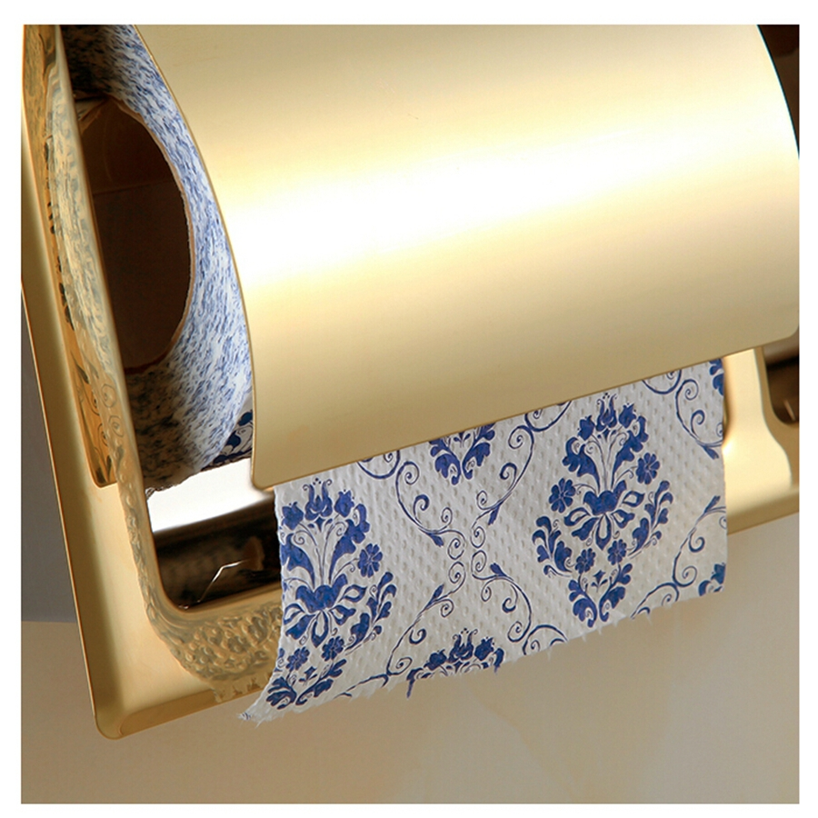 Wholesale And Retail Promotion Luxury Golden Brass Toilet Paper ...