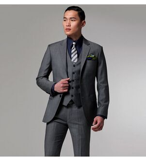 Aliexpress.com : Buy Custom Made Fashion Dark Grey Men Business ...