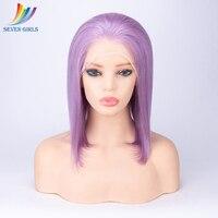 Фиолетовый цвет 8 30 дюймов полный кружево натуральные волосы Искусственные парики прямые бразильские волосы remy полный парик с ребенком вол