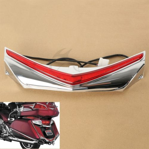 Rear Fender Tip W/ RUN-BREAK ACCENT For Honda GL1800 GoldWing & F6B 2012-2016 15 chrome triceptor fender accent for honda