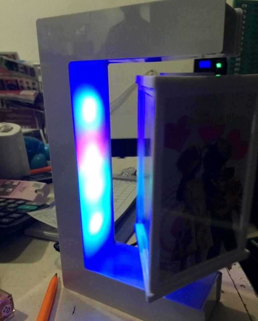 E Form Weiß Magnetische Schwebender Bilderrahmen mit Bunten Led ...