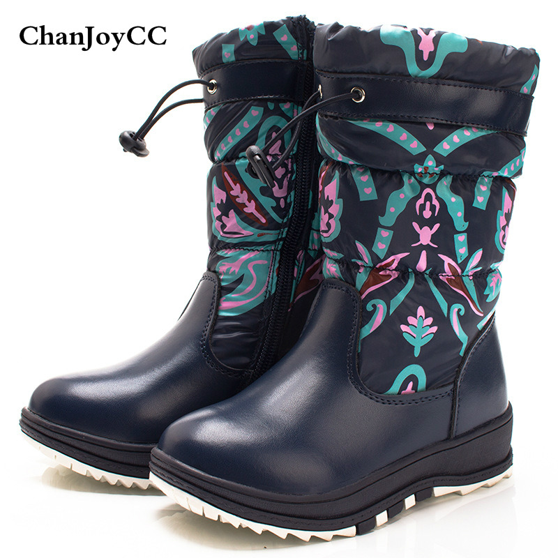 2017 New Fashion Winter Children's Snow Boots Girls Warm Comfortable Boots Kids Slip-resistant High-quality Shoes new winter children snow boots boys girls boots warm plush lining kids winter shoes