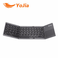 Portable Foldable Wireless Bluetooth Keyboard B033 English Russian Spanish BT Rechargeable Touchpad For IOS Android Windows