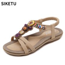 579b562132d3a Women Sandals Fashion Summer Shoes Precious Stones Women Gladiator Sandals  Summer Beach Shoes Female Ladies Sandals