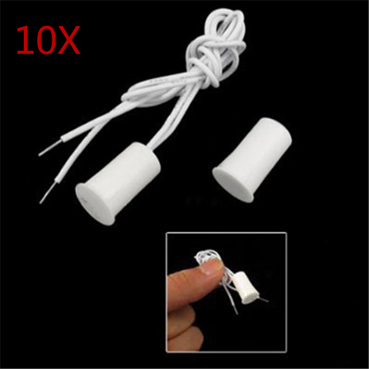 10 Pair Wired Door Window Sensor Recessed Magnetic Contacts Security Reed Switch Alarm For Home Security Alarm White Hot Sale