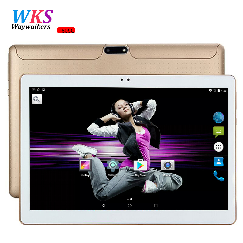 Free Shipping 10 inch Tablet PC Octa Core 4GB RAM 64GB ROM Dual SIM Cards Android 7.0 GPS Tablets pcs Call phone Gifts MT6592 2017 new 10 inch 4g lte tablet pc octa core 1920 1200 4gb ram 64gb rom dual sim trays android 6 0 gps tablets 10 1 gifts