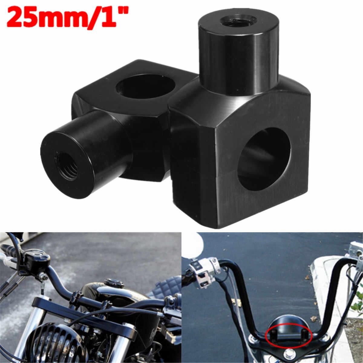 NBX color negro Pinza antideslizante para manillar 1 pieza de 25 mm de abrazadera superior para 1997 y hasta Harley Touring