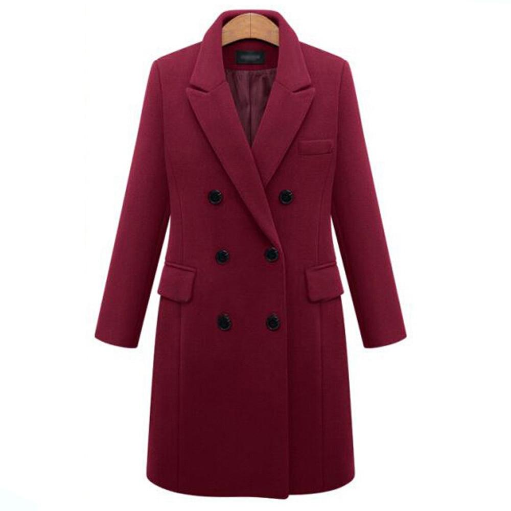 Picture Femmes Picture Casual Travail Automne Veste Plus Poche Size Bureau Outwear As Manteau Élégant Laine Costume as Longues Blazer Hiver Manches 5xl 4xHpqWw5