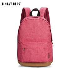 Tinyat hombres mujeres mochilas para adolescentes niñas mochilas para chicas de lona ocasional masculina 14 pulgadas laptop backpack mochila t101 rojo