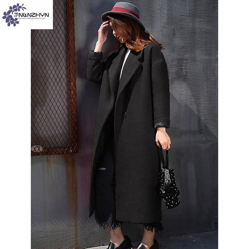 Dames black Haute Lâche Qq628 Laine Tissu Vêtements De Nouvelle Chaud D'hiver Femmes Red fin Longue Survêtement Mode Manteau Tnlnzhyn Grands Chantiers wRnAqBaO