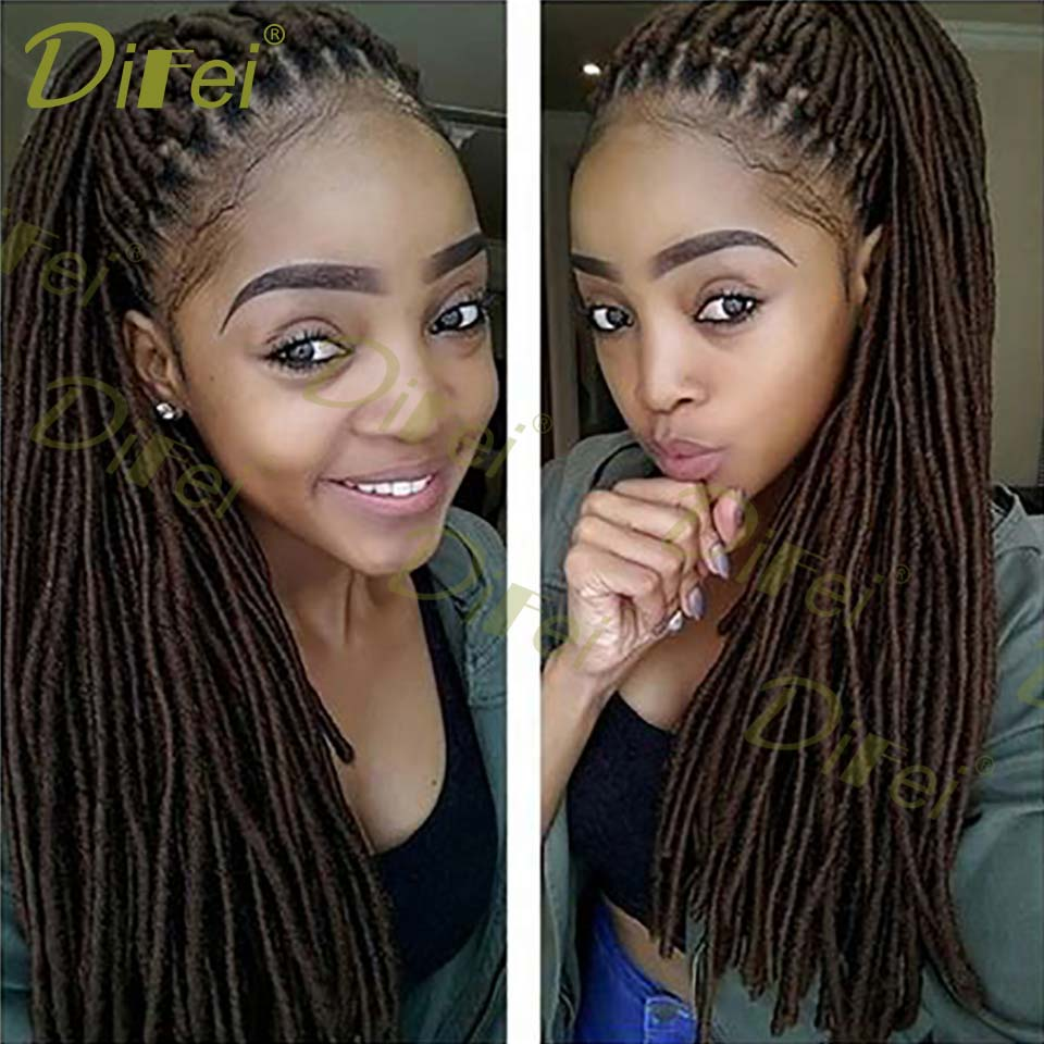 DIFEI Burgundy Available 20inch 100g Pure Ombre 41 Color Packs Full Head Faux Locs Crochet Braids Kanekalon Synthetic Hair