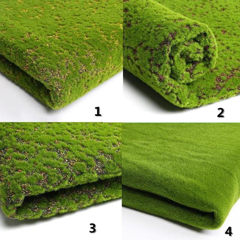 50 x 50cm Micro Landscape Hang Artificial Moss Grass Lawn Turf DIY Mini Fairy Garden Plants Home Wall Decor