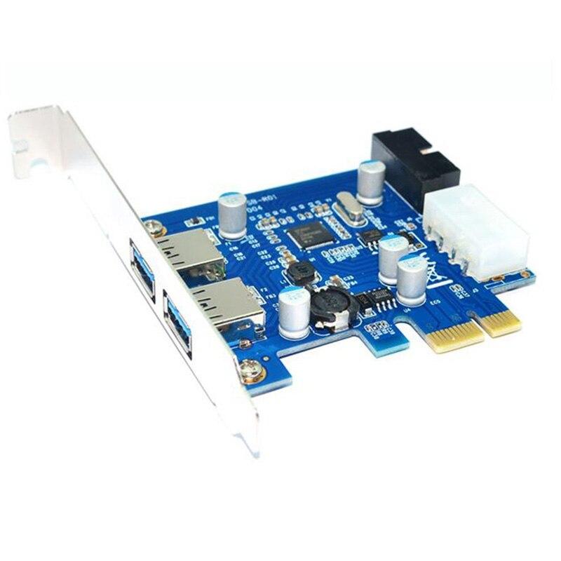 En-Labs 4 Port PCIE PCI-e to USB 3.0 (2 x Type A + 20 Pin - Համակարգչային բաղադրիչներ - Լուսանկար 3