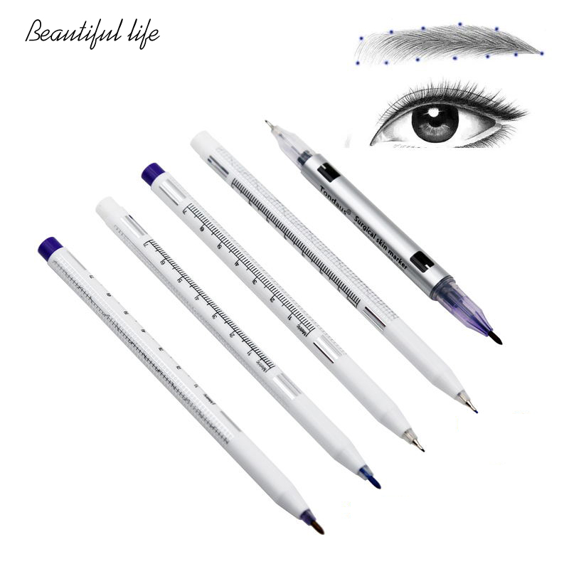 1 Pcs Surgical Skin Marker Medical Marker Tattoo With Ruler Marking Tool Tattoo Eyebrow Tattoo Permanent Tattoo Surgical Marker