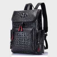 Genuine Leather Backpack Women Men for Laptop High Quality Travel Bag Casual Luxury Backpack Man Crocodile Leather Rucksack