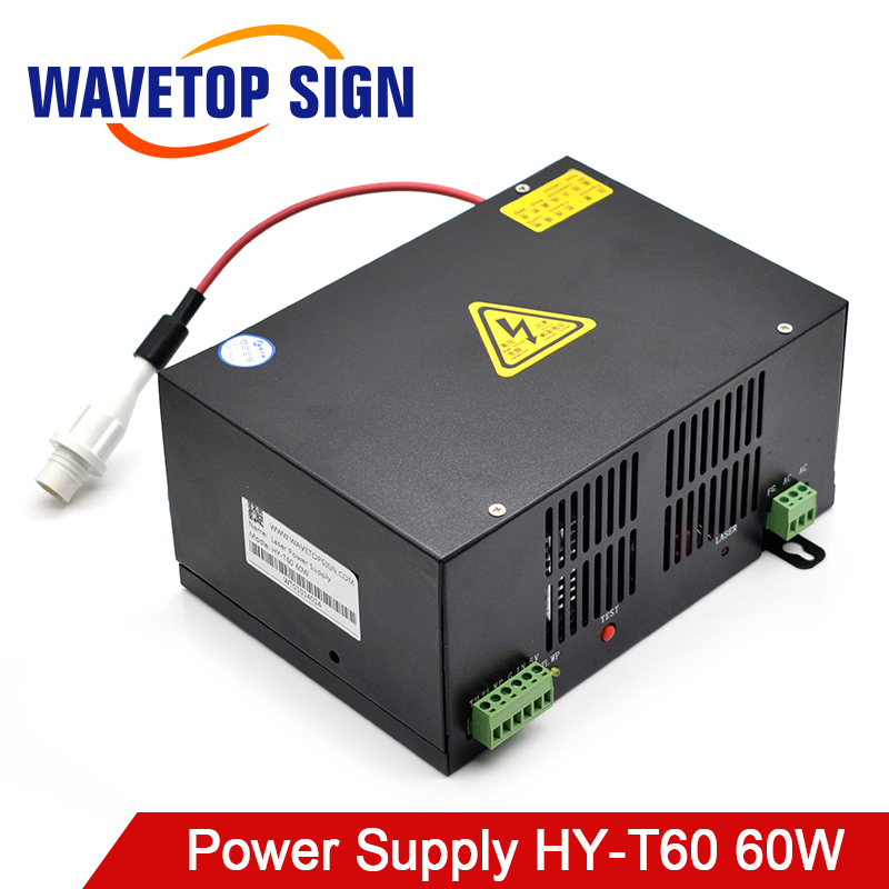 WaveTopSign MYJG-60W CO2 Laser Power Supply For CO2 Laser Engraving Cutting Machine HY-T60 T/W Plus Series With Long Warranty