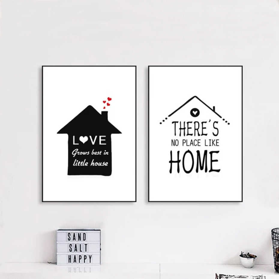 Sweet Home Quotes Nordic Canvas Paintings Wall Art Pictures Poster And Print For Kids Living Room Home Decor Drop Shipping