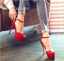 Korean Fashion Sexy High Heels Mit Einem Feinen Nacht Runde Schnalle Sandalen Schuhe Frühling Sommer Hochzeit Schuhe
