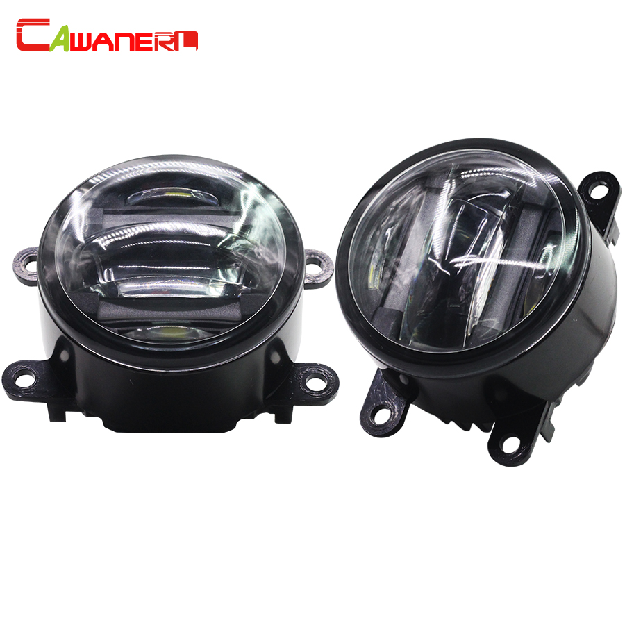 Cawanerl 2 X Car LED Right + Left Fog Light DRL Daytime Running Lamp For Nissan Armada Pathfinder R51 Navara D40 Note E11 cawanerl 2 x car led fog light drl daytime running lamp accessories for nissan note e11 mpv 2006