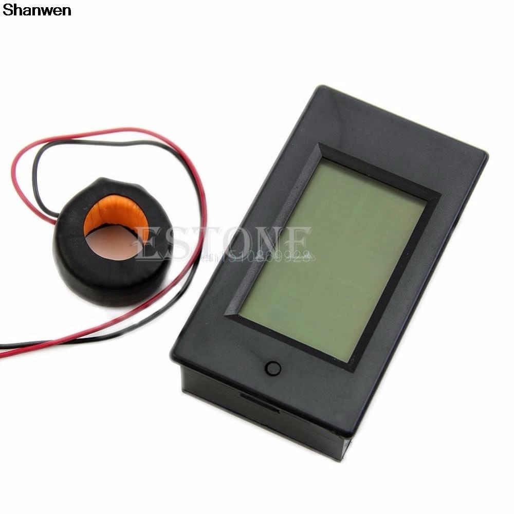 lcd digital volt watt power meter ammeter voltmeter ac 80 260v 20a 1pc AC 80-260V LCD Digital 100A Volt Watt Power Meter Ammeter Voltmeter