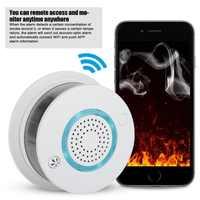 SmartYIBA Smart Wireless WIFI+APP Fire Smoke & Temperature Sensor Wireless Smoke Temperature Detector Home Security Alarm System