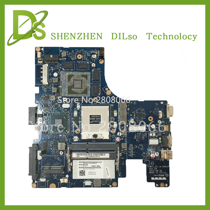 For Lenovo VIWZI-Z2 LA-9061P   Z400  laptop motherboard Z400 mainboard rev2A  100% tested  free shipping brand new ziwb2 ziwb3 ziwe1 la b092p rev 1 0 for lenovo b50 70 laptop motherboard mainboard