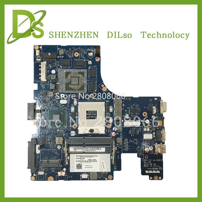 SHUOHU LA 9061P For Lenovo VIWZI Z2 LA 9061P Z400 laptop motherboard Z400 mainboard rev2A 100