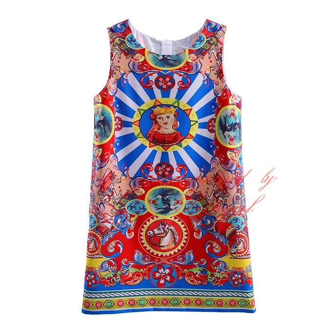 db67055f69 Wholesale Pettigirl 2016 New Girl Flower Dress Kids Oil Paiting Pattern  Dress Summer Children Clothing Girls Dress GD90124-527F