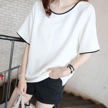 061d95d4c5c 2018 Casual Loose Women T Shirt Black White Solid Color Short Basic Tops   Tees  Female