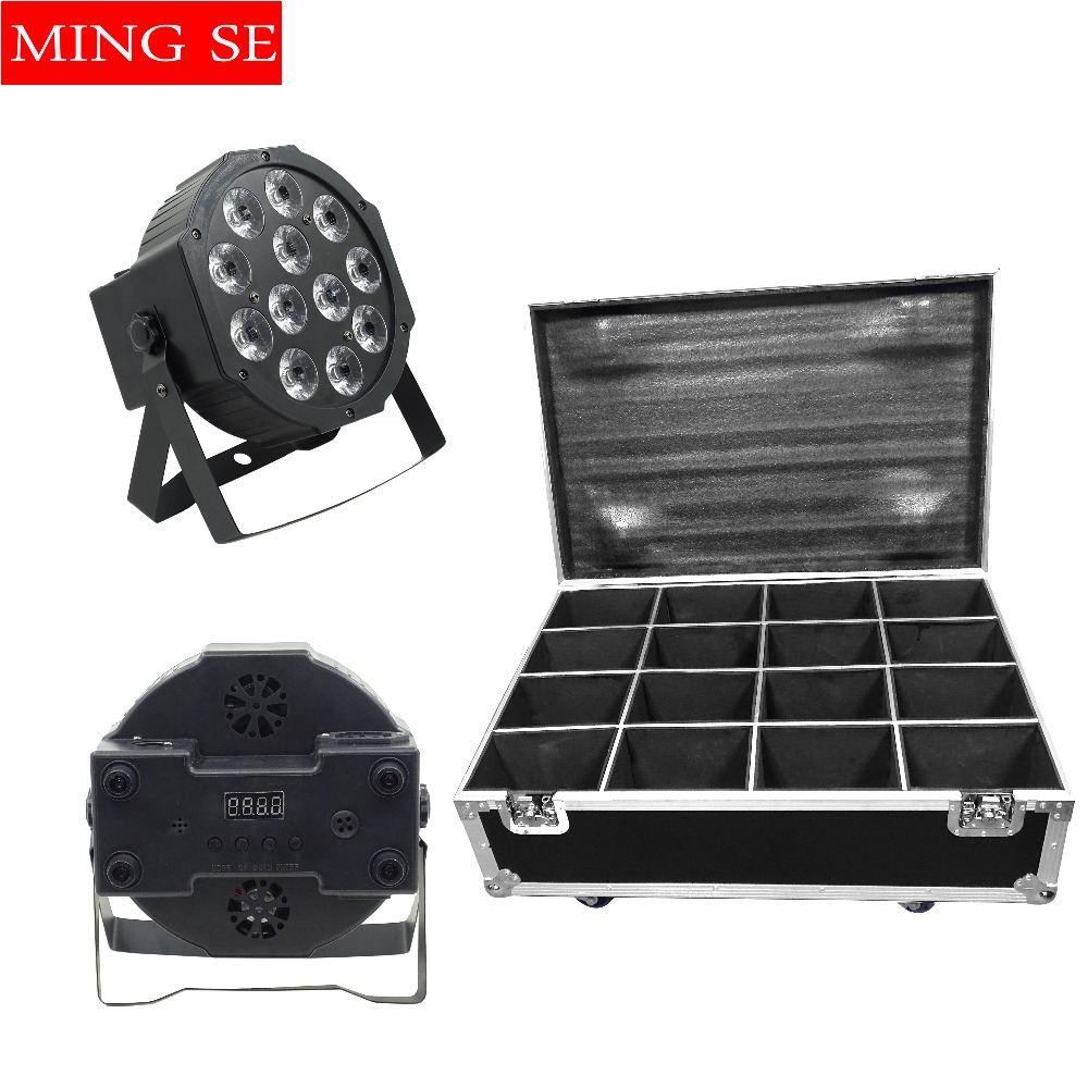 Lights & Lighting Commercial Lighting Shop For Cheap 16pcs/lots Led Par Lights 12x12w Rgbwa Uv 6in1 Flat Par Led With Flight Case Wall Washer Party Wedding Stage Light