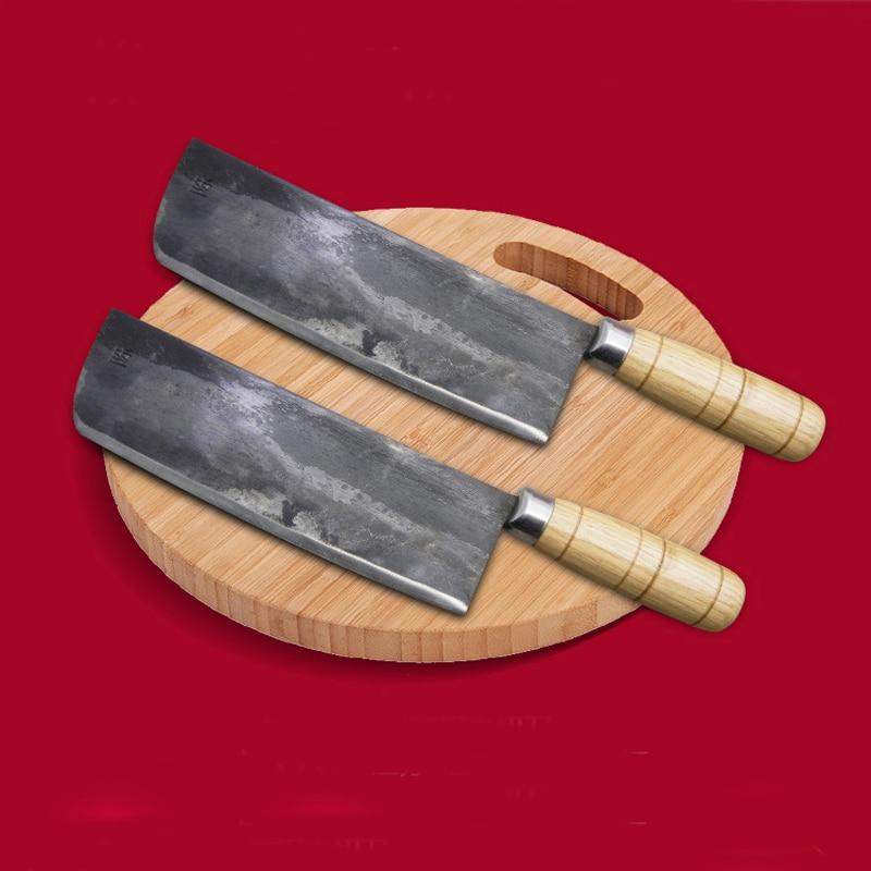 اليدوية الصينية سكين الطاهي يرتدون مزورة الصلب قطعة العاج التقطيع جزار سكاكين المطبخ صنع في الصين أدوات مطبخ المهنية-في سكاكين مطبخ من المنزل والحديقة على  مجموعة 3