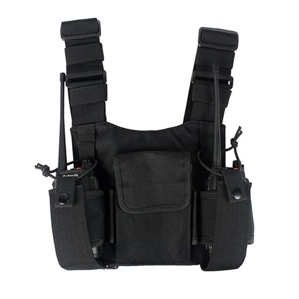 R-dio-Abbree-Chest-Harness-Peito-Pacote-Frente-Bolsa-Holster-Rig-Colete-Peito-Bag-para-Motorola__