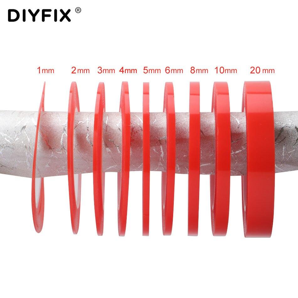 DIYFIX 1 рулон 25 м клейкая лента термостойкая двухсторонняя прозрачная наклейка для телефона инструмент для ремонта lcd 1 мм 2 мм 3 мм 4 мм