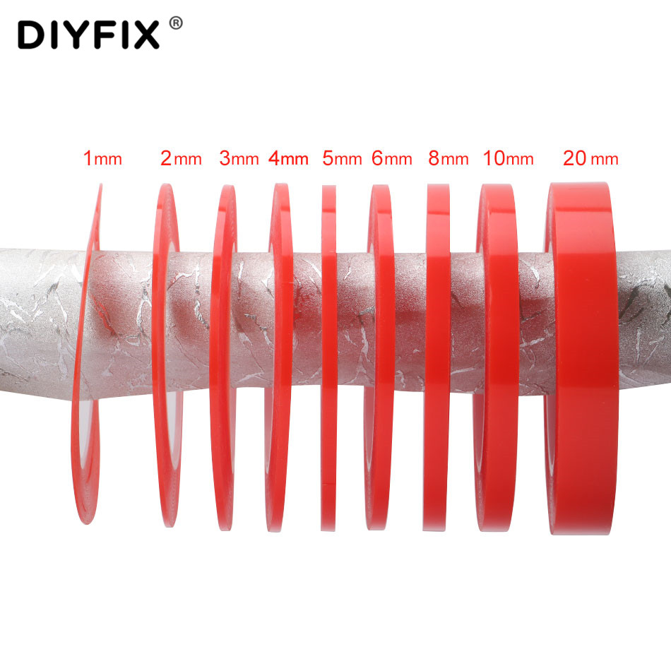 DIYFIX 1 Roll 25M Adhesive Tape Heat Resistant Double-sided Transparent Clear Sticker For Phone LCD Repair Tool 1mm 2mm 3mm 4mm