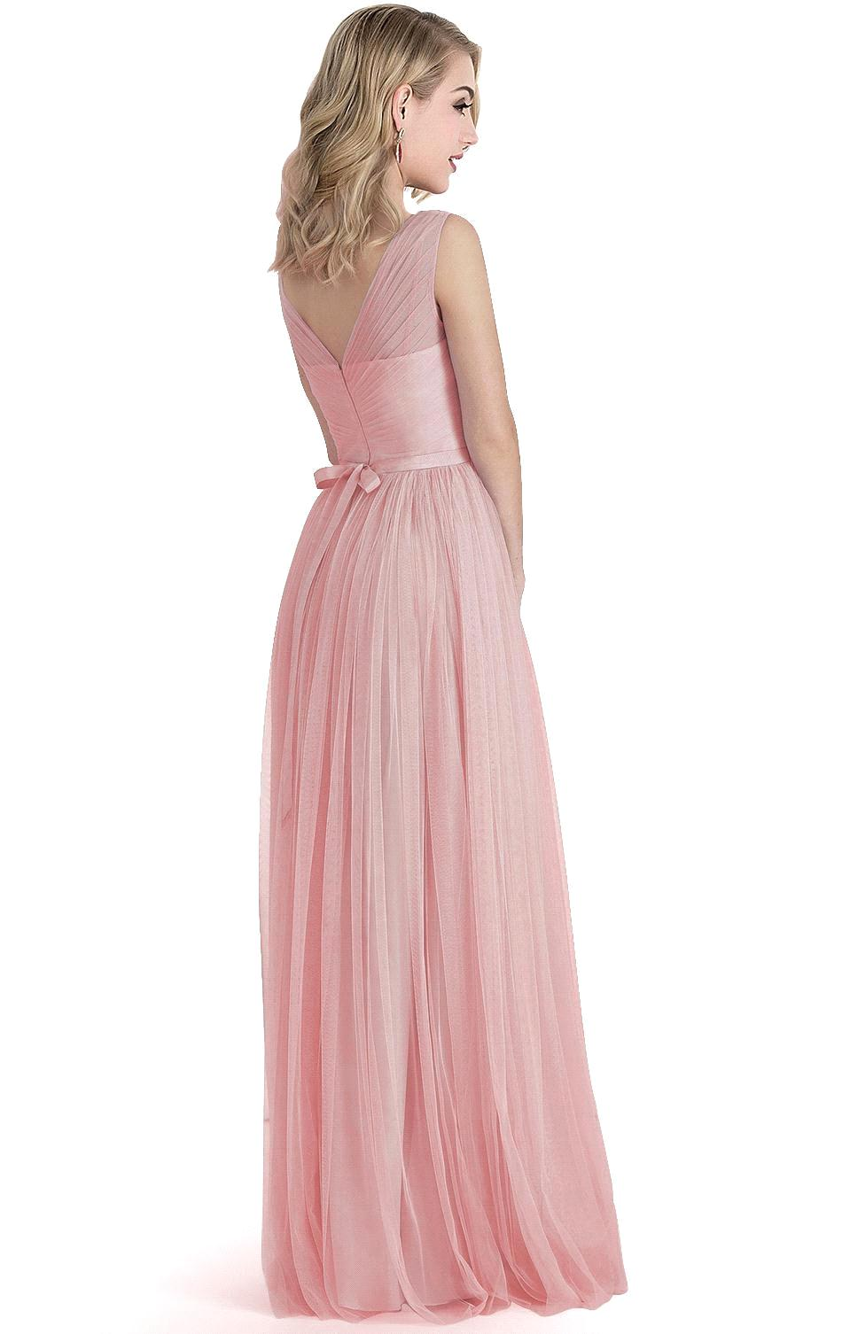 Under 50$ Cheap Price Pink Color Deep V Neck Long Evening Dress Prom ...