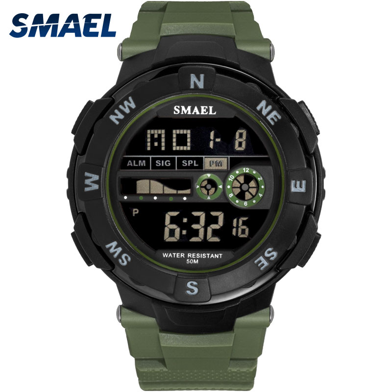 Digital Watch Waterproof SMAEL Watch Men Sport Luxury Clock Men Digital relogio masculino de luxo 1361B LED Military Watch Army