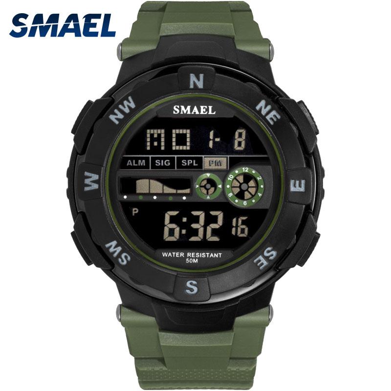 Permalink to Digital Watch Waterproof SMAEL Watch Men Sport Luxury Clock Men Digital relogio masculino de luxo 1361B LED Military Watch Army