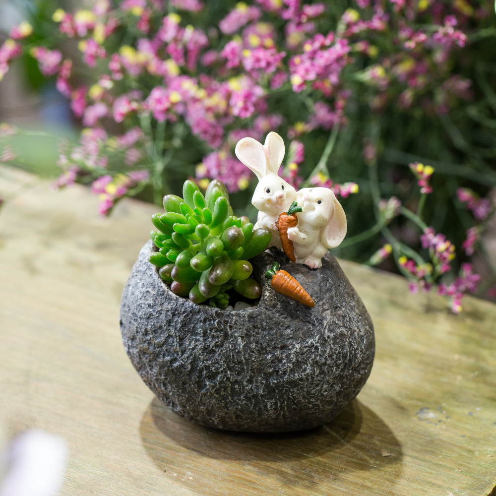Nouveau Kawaii CORGI Fleurs Mini résine pot de fleur planteur jardin Succulent plants