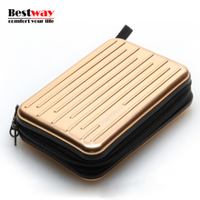 Aluminum HDD Box Metal Bag For Power Bank Fundas Disco Duro 2.5 Externo Waterproof Hard Disk Pouch Cajas Organizadoras Cable Bag
