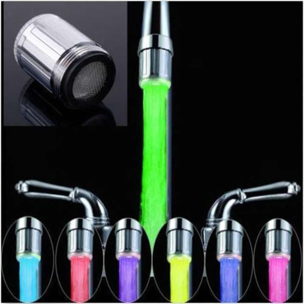 7 màu RGB LED Nhiều Màu Sắc Ánh Sáng Nước Phát Sáng Vòi Tập Đầu Nhà Trang Trí Phòng Tắm Inox Vòi Nước