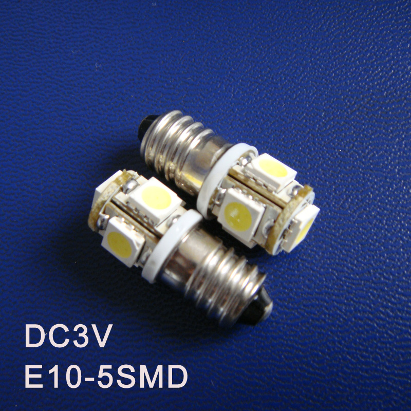 High quality DC3V E10 Led Light Bulbs,E10 Warning Signal,Pilot Lamps,Indicator Lights,Instrument Lamps free shipping 5pcs/lot