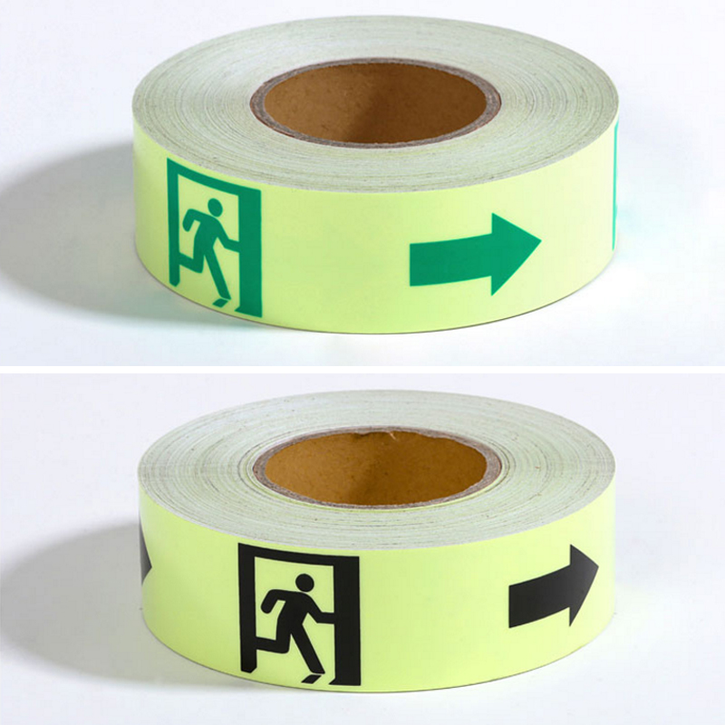 5CM X 10M Glow Tape Self-adhesive Sticker Removable Luminous Tape Fluorescent Glowing Dark Striking Warning Tape