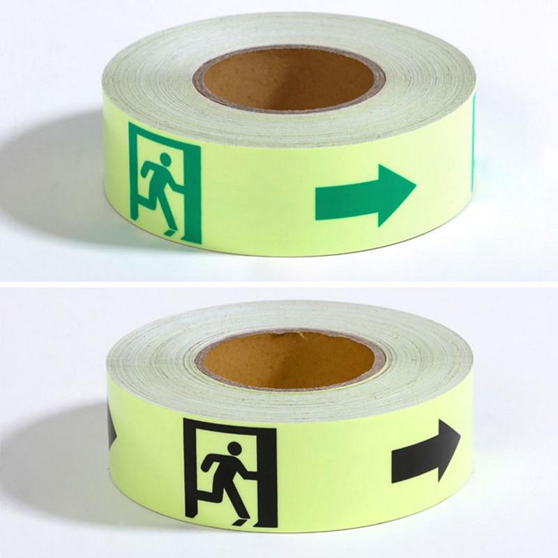 5CM X 10M Glow Tape Self-adhesive Sticker Removable Luminous Tape Fluorescent Glowing Dark Striking Warning Tape