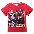 Nuevo 2017 de los bebés de la ropa de la camiseta de star wars niños nova star wars star wars top camiseta de los niños niños del verano roupas meninos