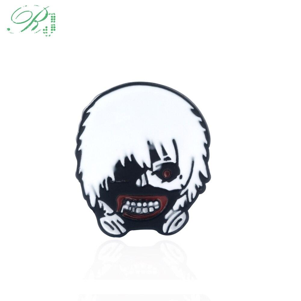 Anime Tokyo Ghoul Ken Kaneki Bronze Mask Metal Bracelet Cosplay Costume Gift
